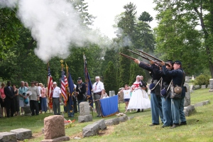 One June 5, 2005, Civil War Medal of Honor winner was celebrated at the cemetery.  Photo by Don Rittner.